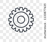 settings vector icon isolated... | Shutterstock .eps vector #1133877635