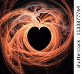 Abstract Black Heart Shape In...
