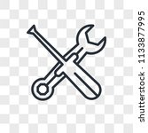 settings vector icon isolated... | Shutterstock .eps vector #1133877995