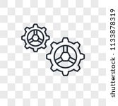 settings vector icon isolated... | Shutterstock .eps vector #1133878319