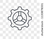 settings vector icon isolated... | Shutterstock .eps vector #1133878331