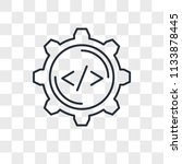settings vector icon isolated... | Shutterstock .eps vector #1133878445