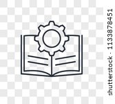 guide vector icon isolated on...   Shutterstock .eps vector #1133878451