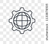 settings vector icon isolated... | Shutterstock .eps vector #1133878505