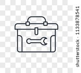 toolbox vector icon isolated on ... | Shutterstock .eps vector #1133878541
