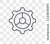 settings vector icon isolated... | Shutterstock .eps vector #1133878595