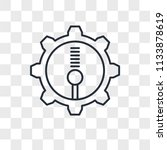 settings vector icon isolated... | Shutterstock .eps vector #1133878619