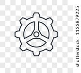 settings vector icon isolated... | Shutterstock .eps vector #1133879225