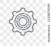 settings vector icon isolated... | Shutterstock .eps vector #1133879249