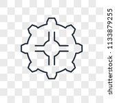 settings vector icon isolated... | Shutterstock .eps vector #1133879255