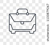toolbox vector icon isolated on ... | Shutterstock .eps vector #1133879267