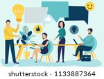 vector illustration in flat... | Shutterstock .eps vector #1133887364