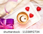 arabic coffee with a cup with a ... | Shutterstock . vector #1133892734