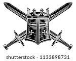 templar or knights great helm...   Shutterstock .eps vector #1133898731