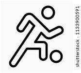 outline sportsman pixel perfect ...   Shutterstock .eps vector #1133900591