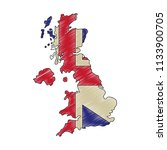 map great britain isolated icon | Shutterstock .eps vector #1133900705