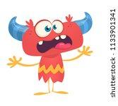 funny excited cartoon devil....   Shutterstock .eps vector #1133901341