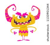 angry cool cartoon monster with ... | Shutterstock .eps vector #1133901344