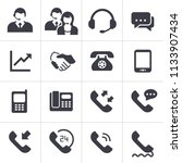 telephone sales icons vector art | Shutterstock .eps vector #1133907434