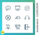 modern  simple vector icon set... | Shutterstock .eps vector #1133919245