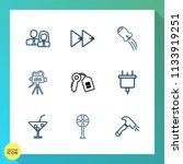 modern  simple vector icon set... | Shutterstock .eps vector #1133919251