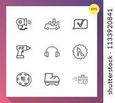 modern  simple vector icon set... | Shutterstock .eps vector #1133920841