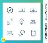 modern  simple vector icon set...   Shutterstock .eps vector #1133920949