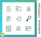 modern  simple vector icon set... | Shutterstock .eps vector #1133921561