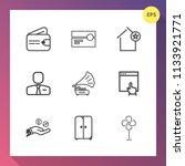modern  simple vector icon set... | Shutterstock .eps vector #1133921771