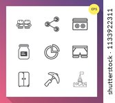 modern  simple vector icon set... | Shutterstock .eps vector #1133922311