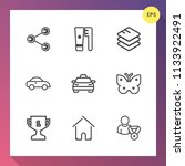 modern  simple vector icon set... | Shutterstock .eps vector #1133922491