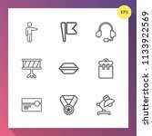 modern  simple vector icon set... | Shutterstock .eps vector #1133922569