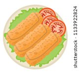 a wrapped dish showing fried... | Shutterstock .eps vector #1133922824