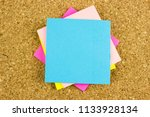 color paper stick. free space...   Shutterstock . vector #1133928134