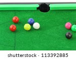 snooker on white background | Shutterstock . vector #113392885