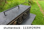 black iron brazier or grill for ... | Shutterstock . vector #1133929094