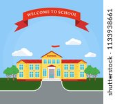 back to school poster template. ... | Shutterstock . vector #1133938661