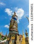 giant buddha or yaksha inside... | Shutterstock . vector #1133940851