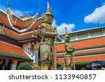 giant buddha or yaksha inside... | Shutterstock . vector #1133940857