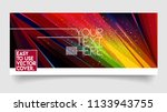 abstract colorful trendy vector ... | Shutterstock .eps vector #1133943755