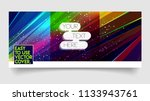 abstract colorful trendy vector ... | Shutterstock .eps vector #1133943761