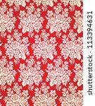 vintage vector damask floral... | Shutterstock .eps vector #113394631