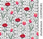 seamless hand drawn pol kadots  ... | Shutterstock .eps vector #1133956181