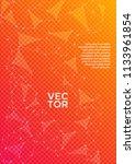 trendy report template. global... | Shutterstock .eps vector #1133961854