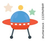 a spacecraft  ufo flat icon... | Shutterstock .eps vector #1133969849