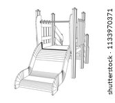 playground slide wireframe low... | Shutterstock .eps vector #1133970371