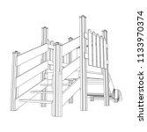 playground slide wireframe low...   Shutterstock .eps vector #1133970374