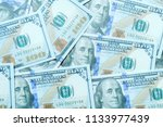 dollar bills or banknotes for... | Shutterstock . vector #1133977439