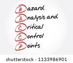 haccp   hazard analysis and...   Shutterstock .eps vector #1133986901