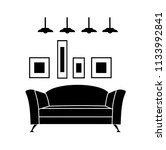 home interior design icon. sofa ... | Shutterstock .eps vector #1133992841